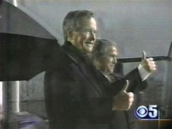 George Bush Jr Sr Thumbs Up