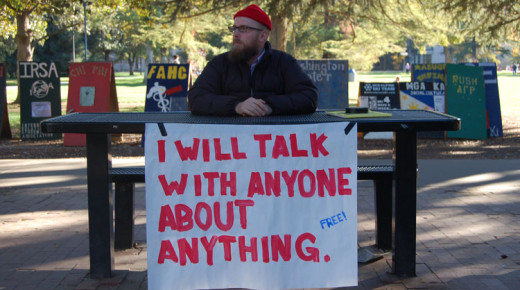 I WILL TALK WITH ANYONE…