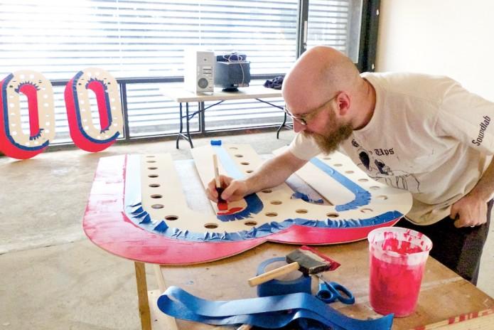 Steve Lambert working