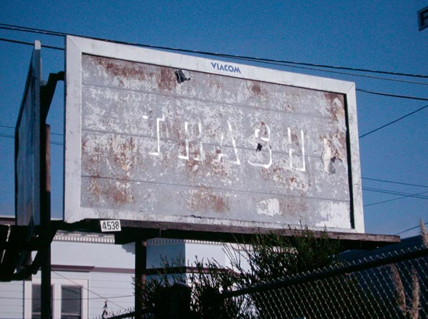 Steve Lambert Trash Billboard