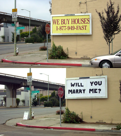 """""""WILL YOU MARRY ME""""in Oakland"""