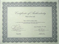 Certificate of Authenticity 200