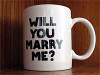 IV Artist Multiple: Will You Marry Me Mug