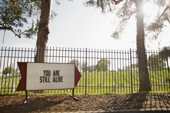 Los Angeles Sign Series - You Are Still Alive, Steve Lambert