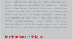 Institutional Critique from MIT Press
