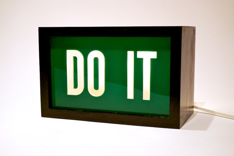 Do It sign by Steve Lambert