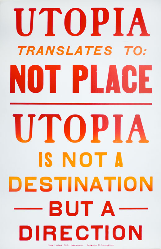 Steve Lambert Utopia Letterpress Prints photo