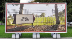 """You Are Still Alive"" Billboard"