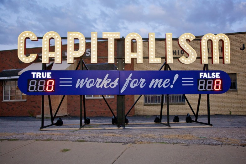 Steve Lambert Capitalism Works For Me! True/False photo