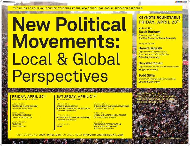 Steve Lambert New Political Movements conference at New School for Social Research   4/21 photo