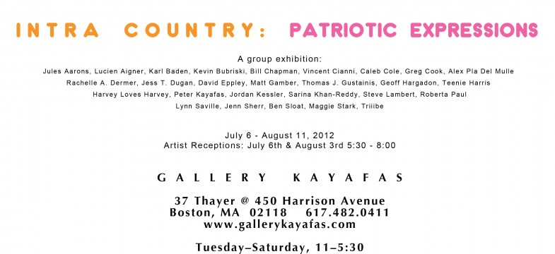 Steve Lambert Intra Country: Patriotic Expressions at Gallery Kayafas photo