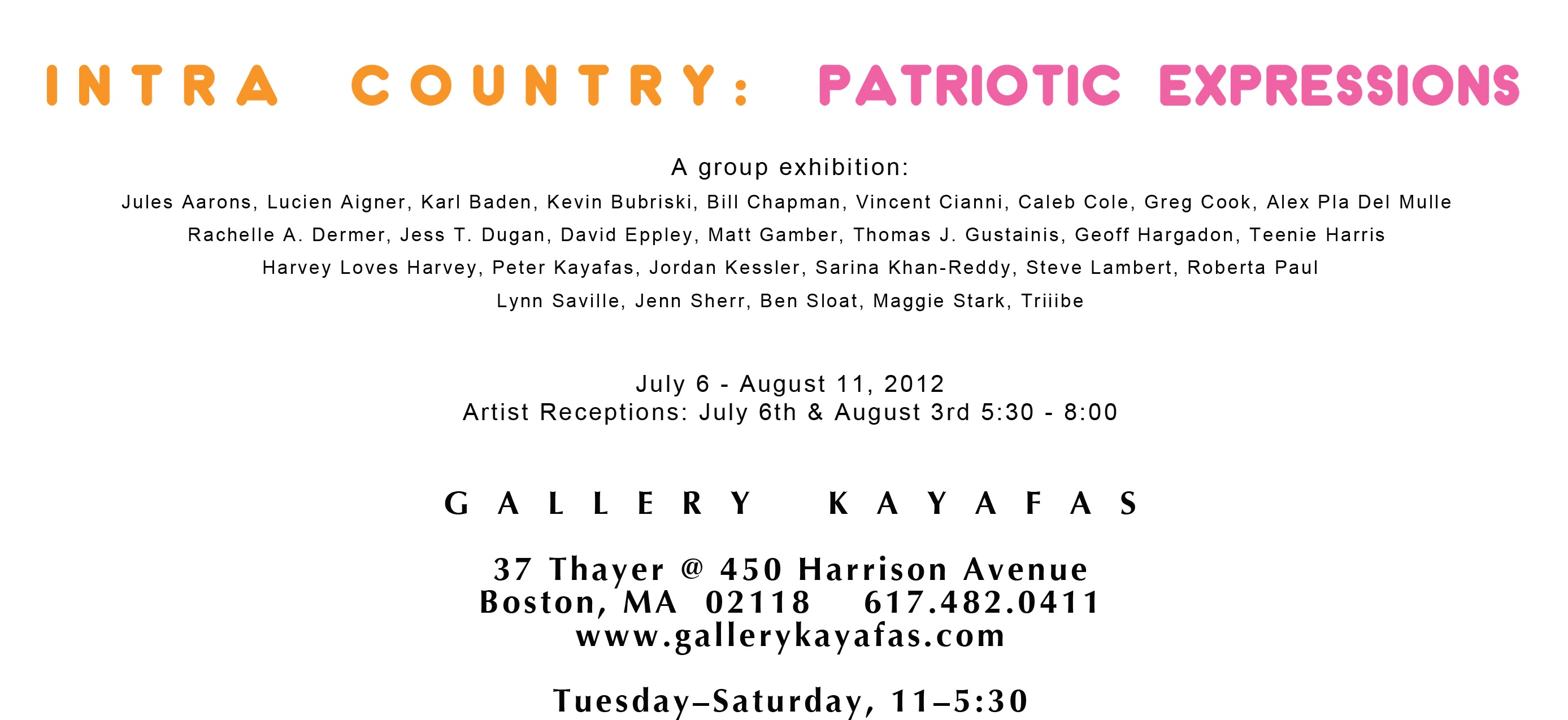 Intra Country: Patriotic Expressions at Gallery Kayafas