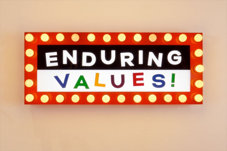Enduring Values - Steve Lambert sign