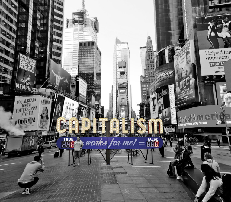 Steve Lambert Capitalism in Times Square, NYC photo