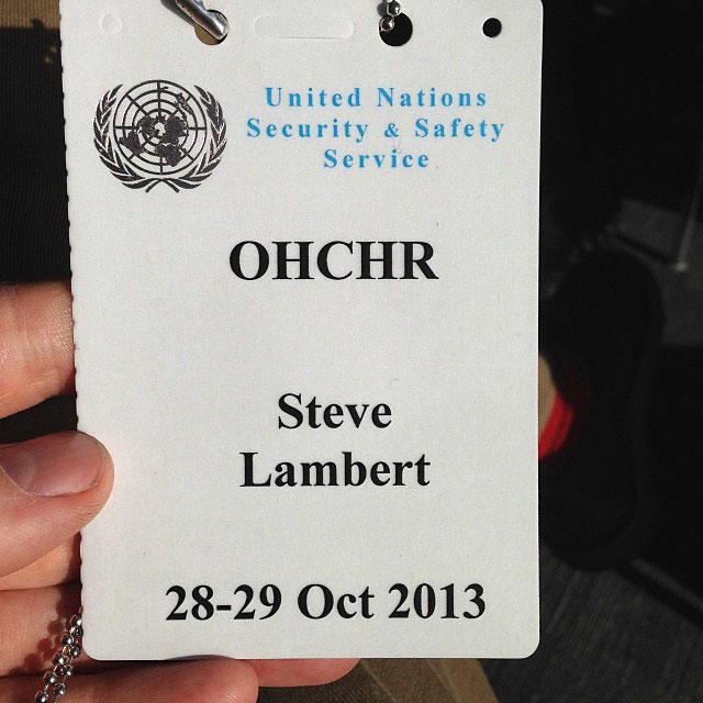 Steve Lambert United Nations