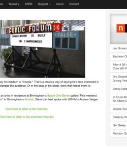 WBHM Interview: Art Walk | Public Forum