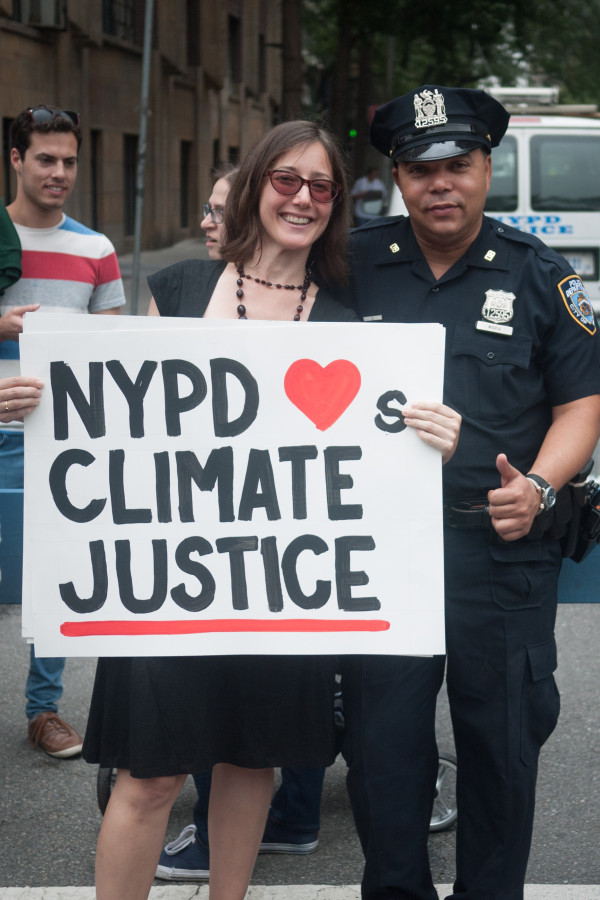 Victoria Estok with NYPD for Climate Justice