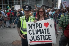 Steve Lambert Photo Series: NYPD at Peoples Climate March photo