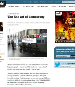 """The Fine Art of Democracy"" in WELD, Birmingham's alt-weekly"