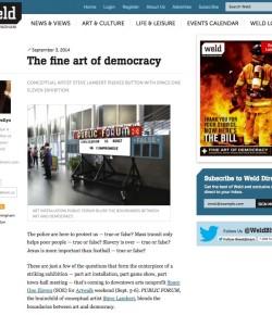 """""""The Fine Art of Democracy"""" in WELD, Birmingham's alt-weekly"""