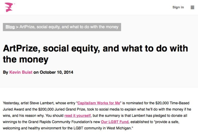 ArtPrize, social equity, and what to do with the money