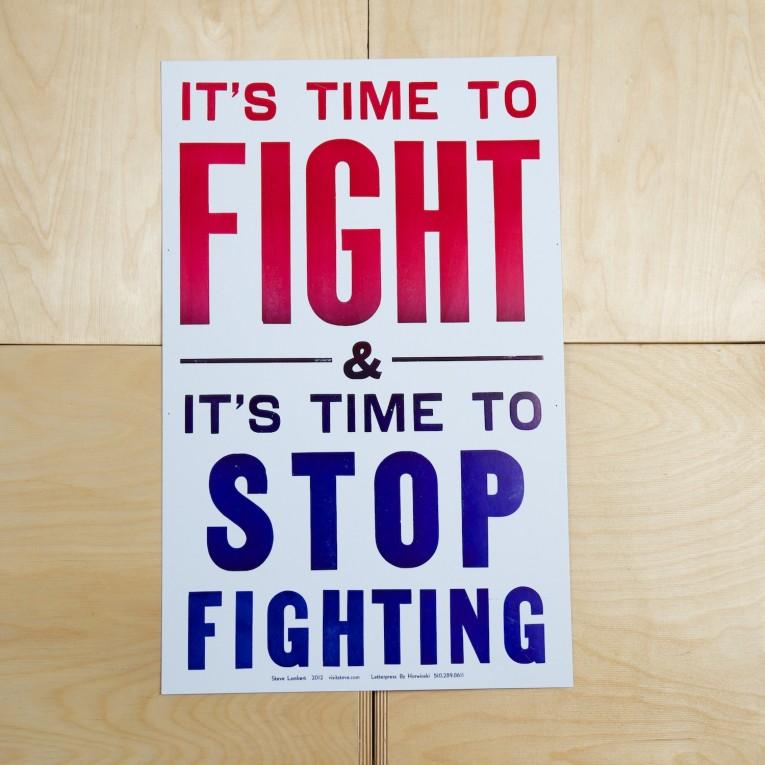 Steve Lambert It's Time To Fight Print