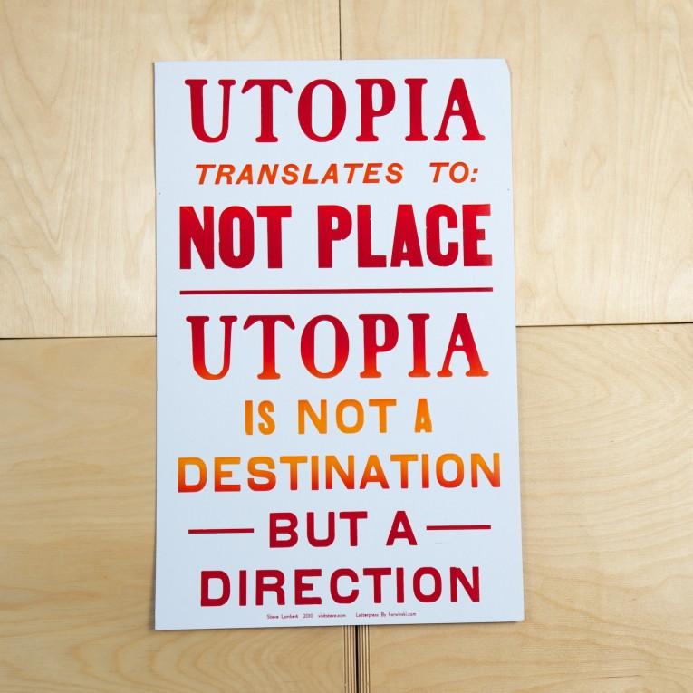 Steve Lambert Utopia Print