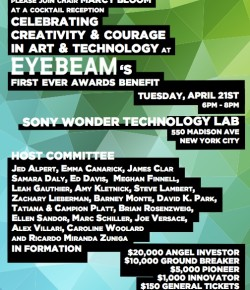 Eyebeam Award Benefit, April 21 2015