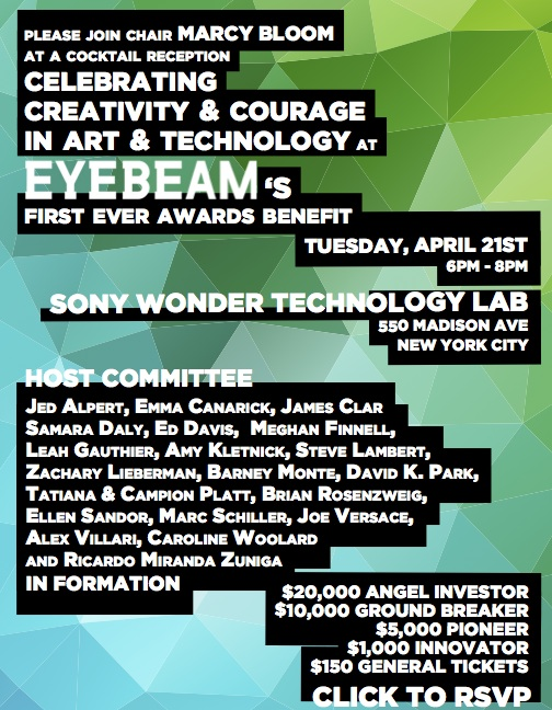 Eyebeam Awards Benefit 2015