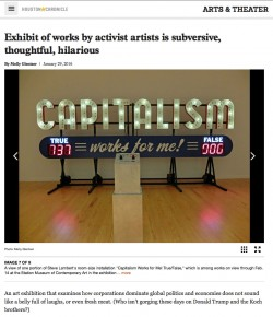 Station Museum Show Reviewed in Houston Chronicle