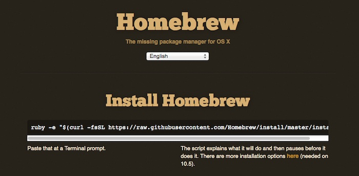 homebrew-website