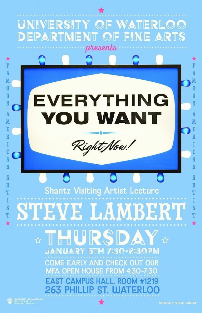 Steve Lambert - University of Waterloo Shantz Visiting Artist Lecture