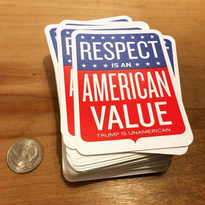 Respect is an American Value Stickers