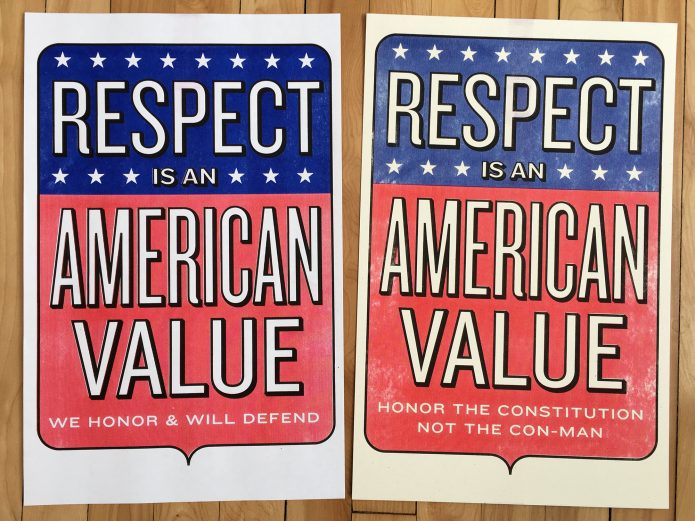 Respect is an American Value Steve Lambert Print