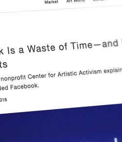 Artnet Op-Ed: Why Facebook Is a Waste of Time – and Money – for Arts Nonprofits