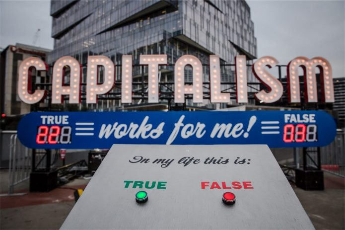 Capitalism Works For Me TrueFalse by Steve Lambert - Photos by Bryony Jackson