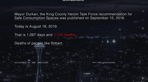 Screenshot of DelaysMeanDeaths.org website
