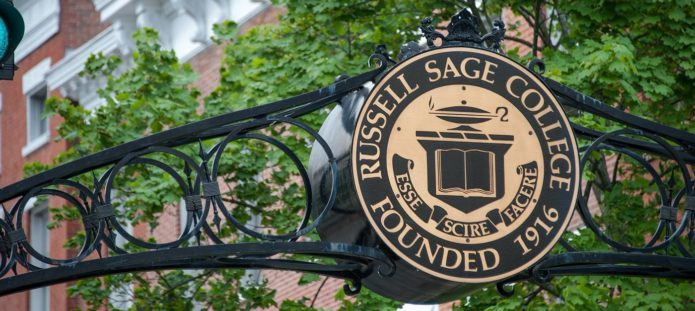 Sign for Russell Sage College