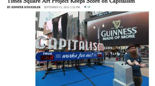 New York Times Review on Capitalism in Times Square